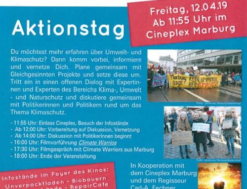 Klimaschutz-Aktionstag am kommenden Freitag im Cineplex Marburg