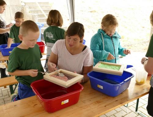 Breidenbacher Ferienspielkinder üben sich im kreativen Re- und Upcycling